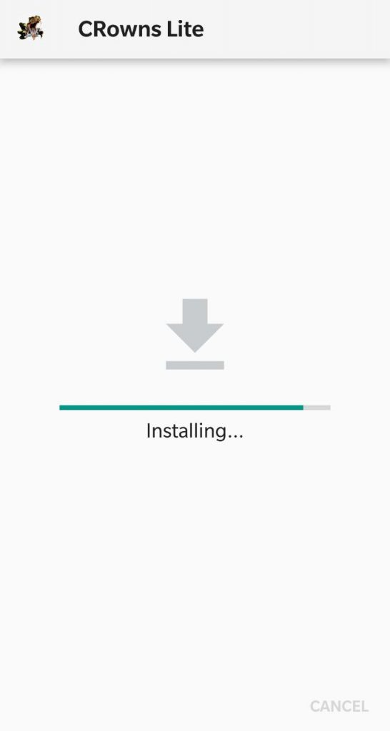 Installing CRowns VOD Pro Lite Apk on Android