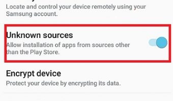 Enable Uknnown Sources - TvTap Pro Apk