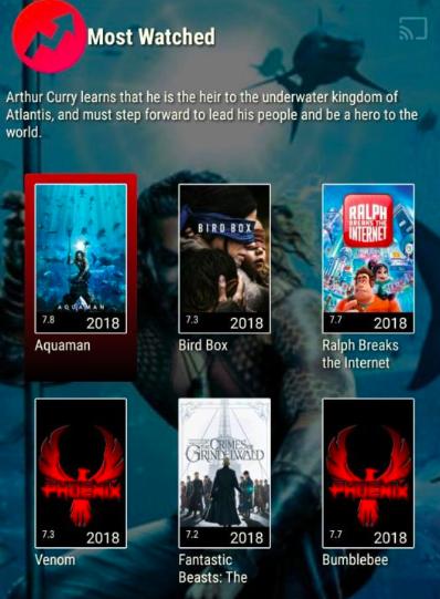 Phoenix TV App on Android Device